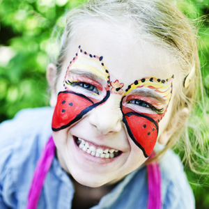 Young girl With Face Paint